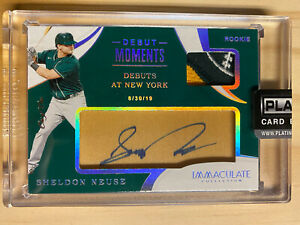 2020 Immaculate Debut Moments Platinum SHELDON NEUSE Auto Patch RC True 1/1 A's
