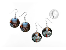 It Pennywise Bill Skarsgård 2017 Stephen King 2 Pair of Charm Earrings