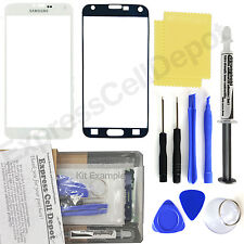 For White Samsung Galaxy S5 G900 Front Outer Glass Screen Replacement Repair Kit