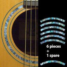 Rosette Stripe (Abalone Blue) Purflinng Sound hole Inlay Sticker Decal Guitar