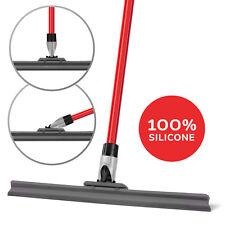 "Floor Flexible Squeegee Black 17"" / 45 Cm Rubber Blade Heavy Duty with Handle"