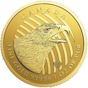 Kanada - 200 Dollar 2018 - Steinadler - Ruf der Wildnis (5.) - 1 Oz Gold ST