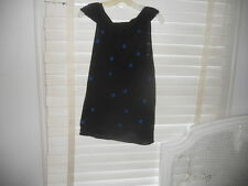 NWOT Crea Concept ~ Art to Wear ~Bl w/Royal Blue Polka Dot Sleeveless Sweater 44