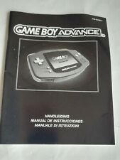 GAME BOY ADVANCE. INSTRUCTION BOOKLET (NO GAME)