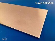 Lastra lamiera  Alluminio AW1050 da 3 mm 500x500
