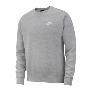 NIKE  Crew Neck Fleece Sweatshirt Jumper Grey Size (3) XXX Large - Aussie Stock!