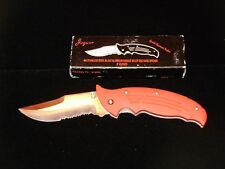 "NEW JAGUAR 440 SS ONE-HAND OPENING LOCKING POCKET KNIFE YK-512RD - 5"" CLOSED"