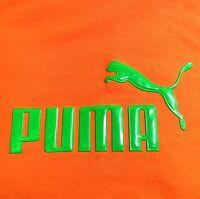 PUMA MEN'S BOYS T SHIRT TEE SHIRT TOP SPORTS GYM RUNNING EXERCISE TOP ORANGE