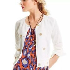 CAbi Piazza Jacket Blazer Size XS Linen Lyocell Blend Lightweight Cabi White