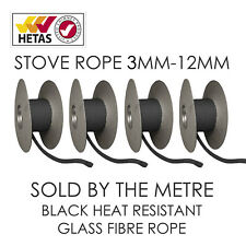 Black Heat Resistant Stove/Fire Rope For Woodburner/Log Burner Doors& Flue Seal