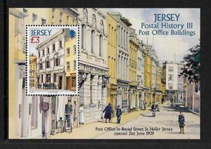 2009 JERSEY Postal History - Buildings Minisheet MNH (SG MS1442)