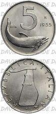 04145] REPUBBLICA ITALIANA - 5 LIRE DELFINO 1955 - FDC