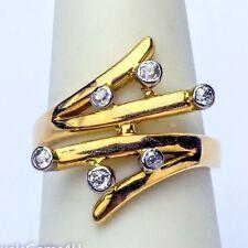 18K Yellow Gold Old European Cut Diamond Ring Band Vintage