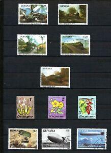 Guyana Stamps 1989 - 1990 MNH cto