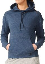 adidas Cotton Fleece Womens Hoody Blue Soft Touch Gym Training Workout Hoodie