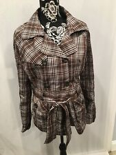 Charlotte Russe womens plaid wind jacket in a size large very cute!