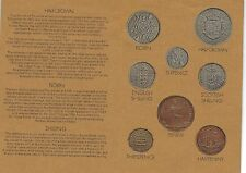 1970 Great Britain 8 Coin 6 Page C.O.A. Document Set~Free Shipping