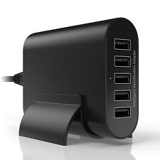 For iPhone 6 6 Plus Andriod Tablets 50W 5 Port USB Wall Charger Ac Adapter
