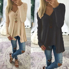 Tops Sweater Pullover Casual Simple Tunic Off-the-shoulder Women Female Sweater