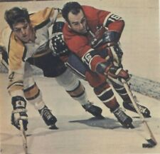 BOBBY ORR BOSTON VS  HENRI RICHARD  MONTREALHOCKEY PHOTO  8X10