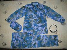 07's China PLA Navy Marines Officer Digital Camo Combat Clothing,Set,Winter.