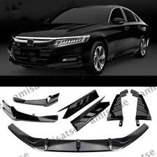 Front + Rear Spoiler Surround Side Moulding Trim For Honda Accord 2018+ AS Black