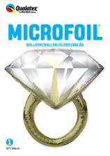 Lot of 6 - Qualatex 57819 Diamond Wedding Ring 37 Inch Microfoil Balloons-  NEW