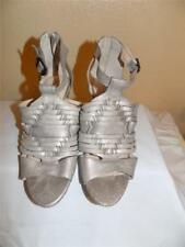 Vince Camuto Metallic Gold Peeptoe Buckle Up Sandals Shoes Size 6.5 M