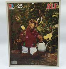 Vtg 1987 Milton Bradley 25-Piece Alf Alien Watering Flowers Board Frame Puzzle