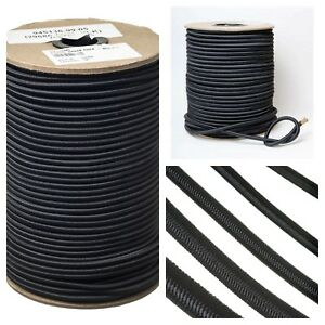 Durable Strong Black Elastic Shock Cord Tie Down  Rope Bungee 4 5 6 8 10mm