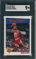 MICHAEL JORDAN 1991-92 NBA HOOPS SLAM DUNK CHAMPION #IV GRADED SGC 9 MINT
