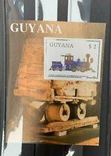 Guyana , Bloc de timbre train neuf MNH , Bien
