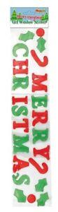 Merry Christmas Gel Window Sticker - Gift Party Kids Xmas Decoration Sign Door