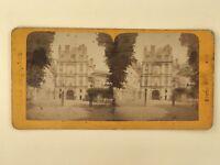 Porta Dorata Château Da Fontainebleau Francia Foto Stereo Vintage Albumina