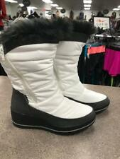NEW Cougar Waterproof Snow Boots White With Black Faux Fur 8M
