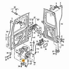 Nuovo Originale VW Caddy 04-08 Porta Posteriore Saliscendi Chiusura SX N/S