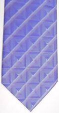 """Vesuvio Napoli Men's Polyester Tie 59.5"""" X 4"""" Lavender/silver Geometric Striped"""