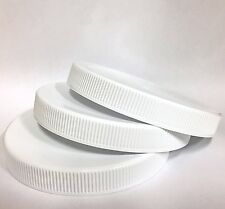 Lot of 75 89/400 89-400 White Plastic Jar Container Lids Caps Lined Food Grade