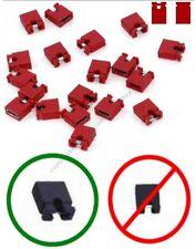 "Lot25 Jumper/Jump Block 2.54mm/.1""Computer/HD/CD/DVD/SCSI/PCB/Circuit Board{RED"