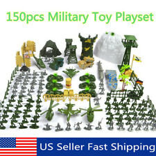 150Pcs Military Plastic Toy Soldier Army Men Figures & Accessories Kit 15cm Set