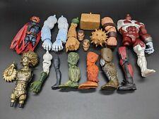 Marvel Legends BAF Lot- Caliban Sandman Wendigo Warlock Sasquatch Lizard and etc