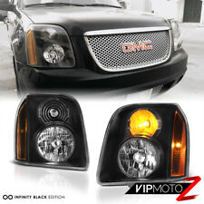 2007-2014 GMC Yukon XL  1500 Denali Black Front Headlights Assembly LEFT+RIGHT