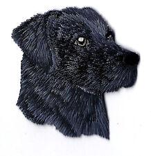 DOGS -  BLACK LABRADOR RETREIVER - PETS/ Iron On Embroidered Applique Patch