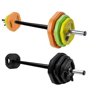 Aerobic Body Pump Barbell Set Tri Grip Plate Weight Strength Group Fitness