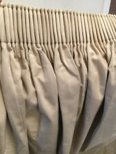 Laura Ashley Lille Taupe Curtains, Fully Lined 11'wide X 7'high