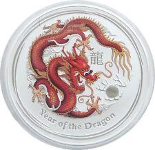 2012-P Australia Lunar Year of the Dragon Colour $2 Two Dollar Silver 2oz Coin