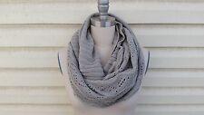 CYBER SALE - Winter Scarf,  Infinity scarf, Knit scarf, Scarf,Gift -  GRAY