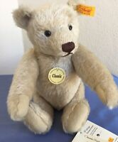 "STEIFF CLASSIC 11"" TEDDY BEAR BEIGE MOHAIR JOINTED ~ # 028724 YELLOW TAG"