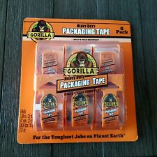 "Gorilla Heavy Duty Packaging Tape 1.88""x25  Yard Per Tape, 150 Yard Total 6 Pack"