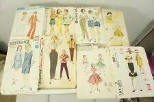 Lot 51 Vintage Sewing Patterns girls jrs women men 40s 50s 60s 70s 80s Retro NY
